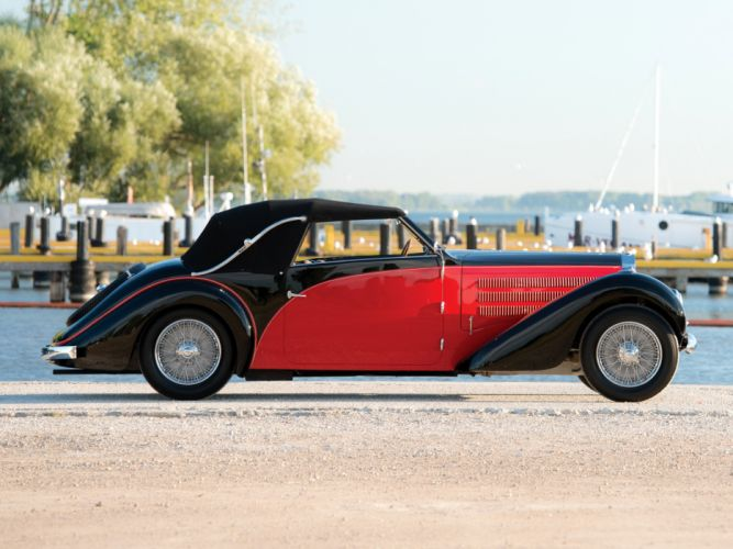 1937 Bugatti Type-57 Stelvio Cabriolet by Gangloff 57569 retro convertible f wallpaper