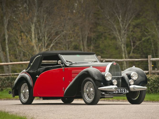 1937 Bugatti Type-57 Stelvio Cabriolet by Gangloff 57569 retro convertible r wallpaper