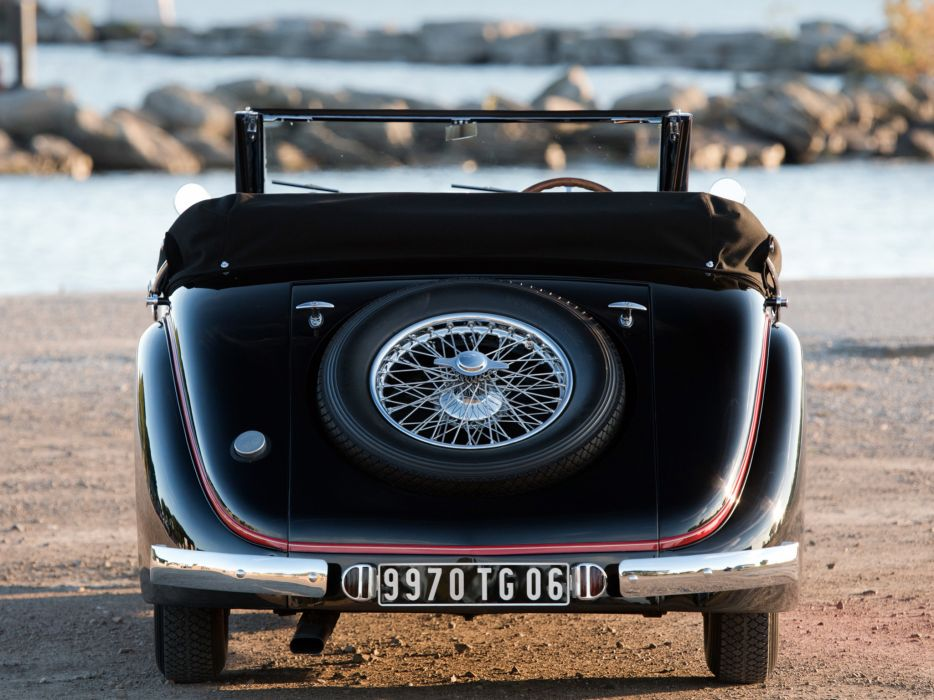 1937 Bugatti Type-57 Stelvio Cabriolet by Gangloff 57569 retro convertible wheel  f wallpaper