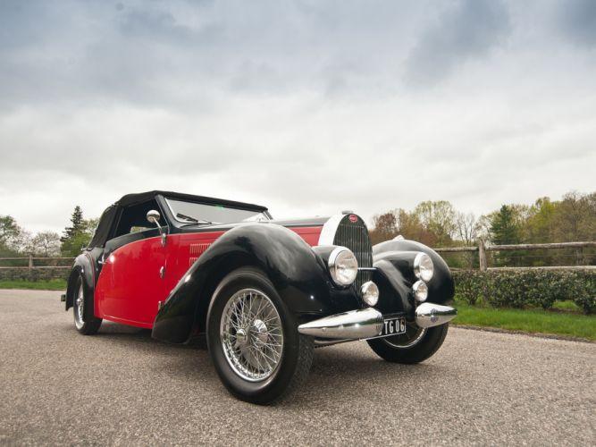 1937 Bugatti Type-57 Stelvio Cabriolet by Gangloff 57569 retro convertible g wallpaper