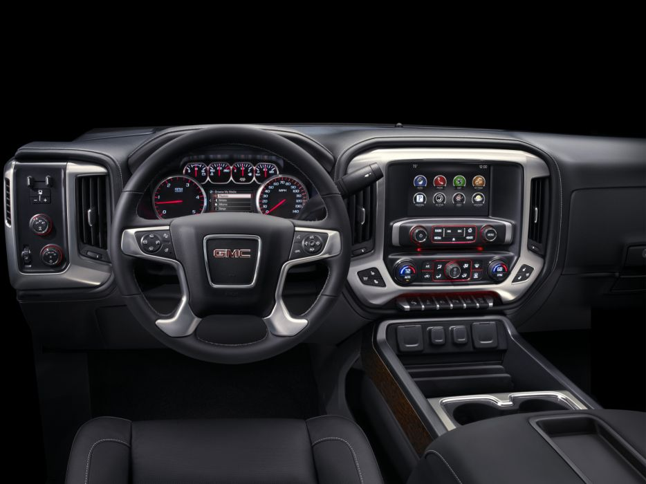 2014 GMC Sierra 2500 HD SLT Crew Cab pickup interior      f wallpaper