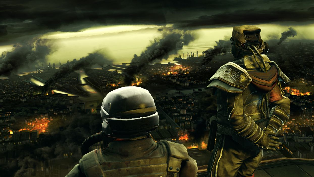 KILLZONE Shadow Fall sci-fi city apocalyptic warrior    g wallpaper