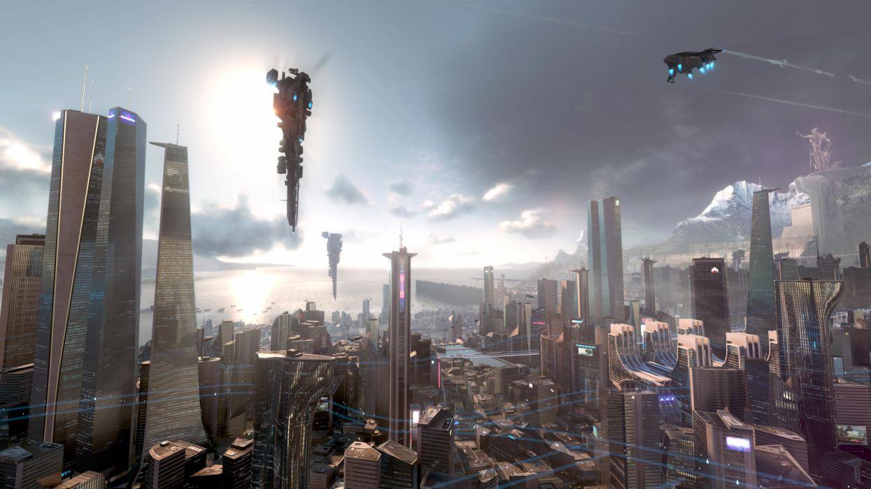 KILLZONE Shadow Fall sci-fi spaceship    g wallpaper