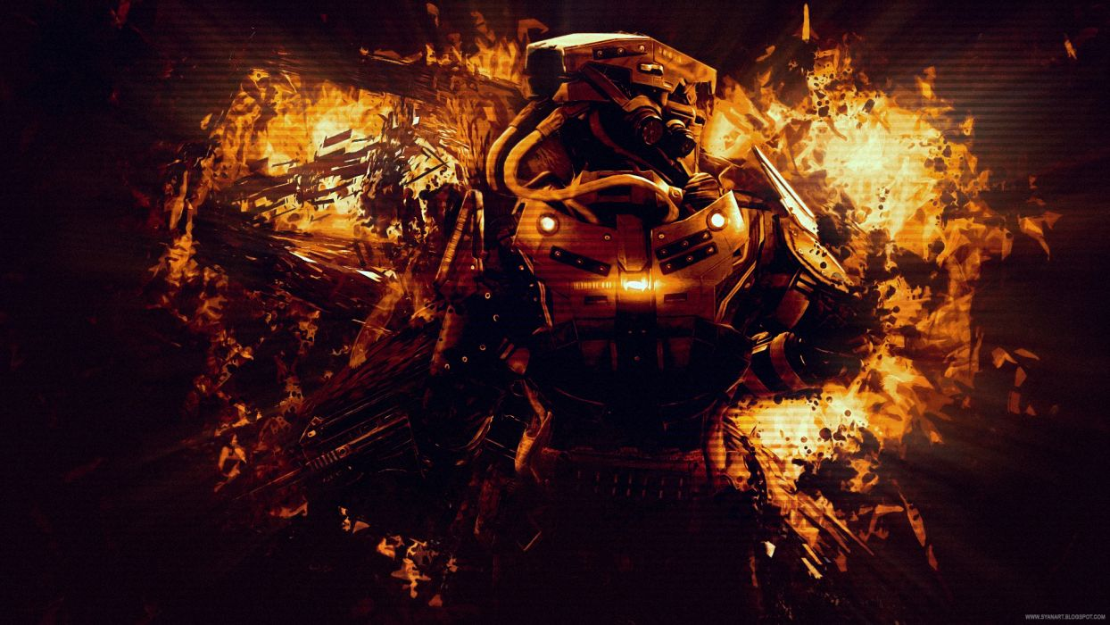 KILLZONE warrior soldier sci-fi  b wallpaper