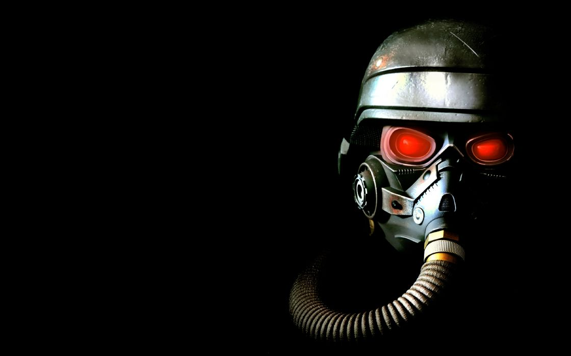 KILLZONE warrior soldier sci-fi gas mask   f wallpaper