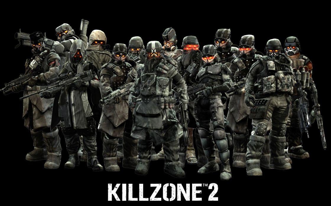 KILLZONE warrior soldier sci-fi weapon gun   b wallpaper