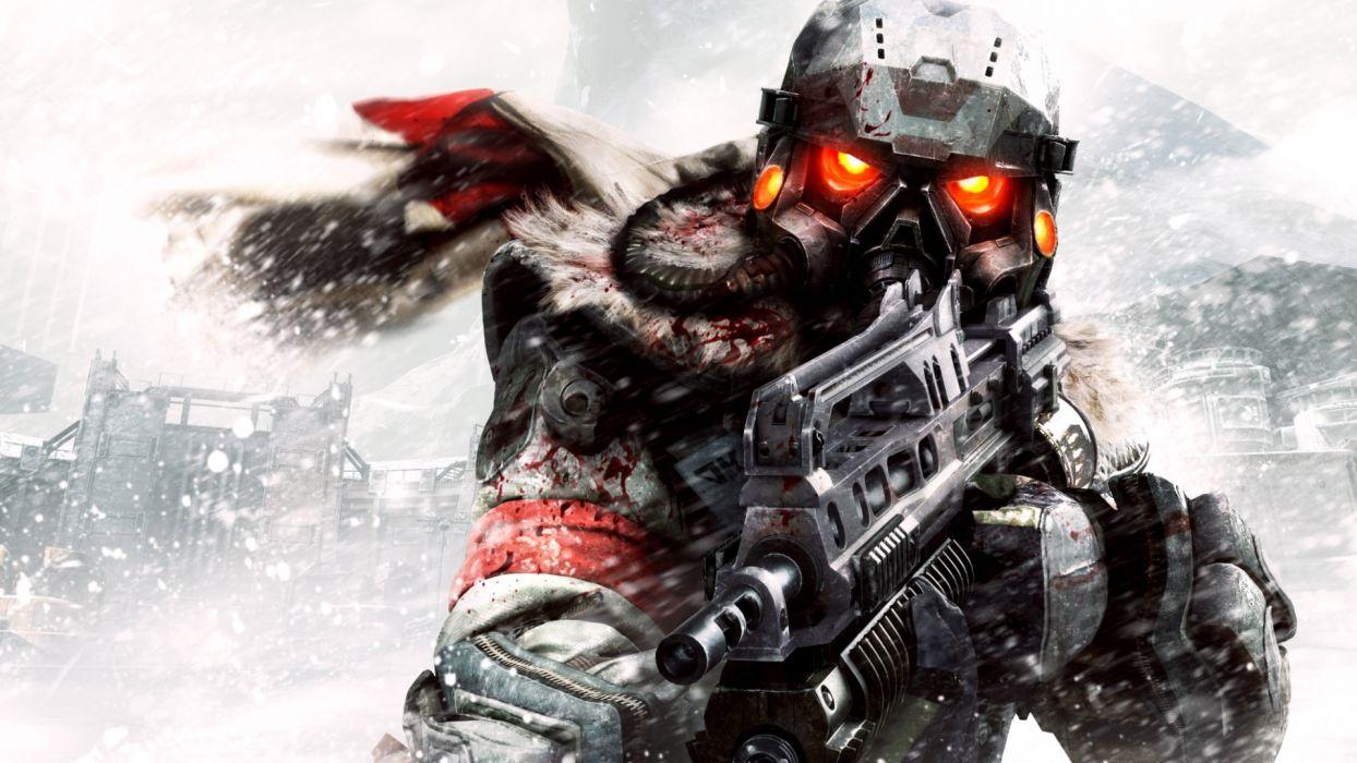 KILLZONE warrior soldier sci-fi weapon gun  f wallpaper