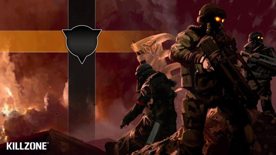 KILLZONE warrior soldier sci-fi weapon gun gas mask f wallpaper
