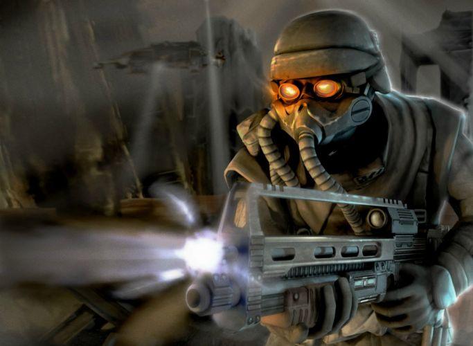 KILLZONE warrior soldier sci-fi weapon gun gas mask g wallpaper