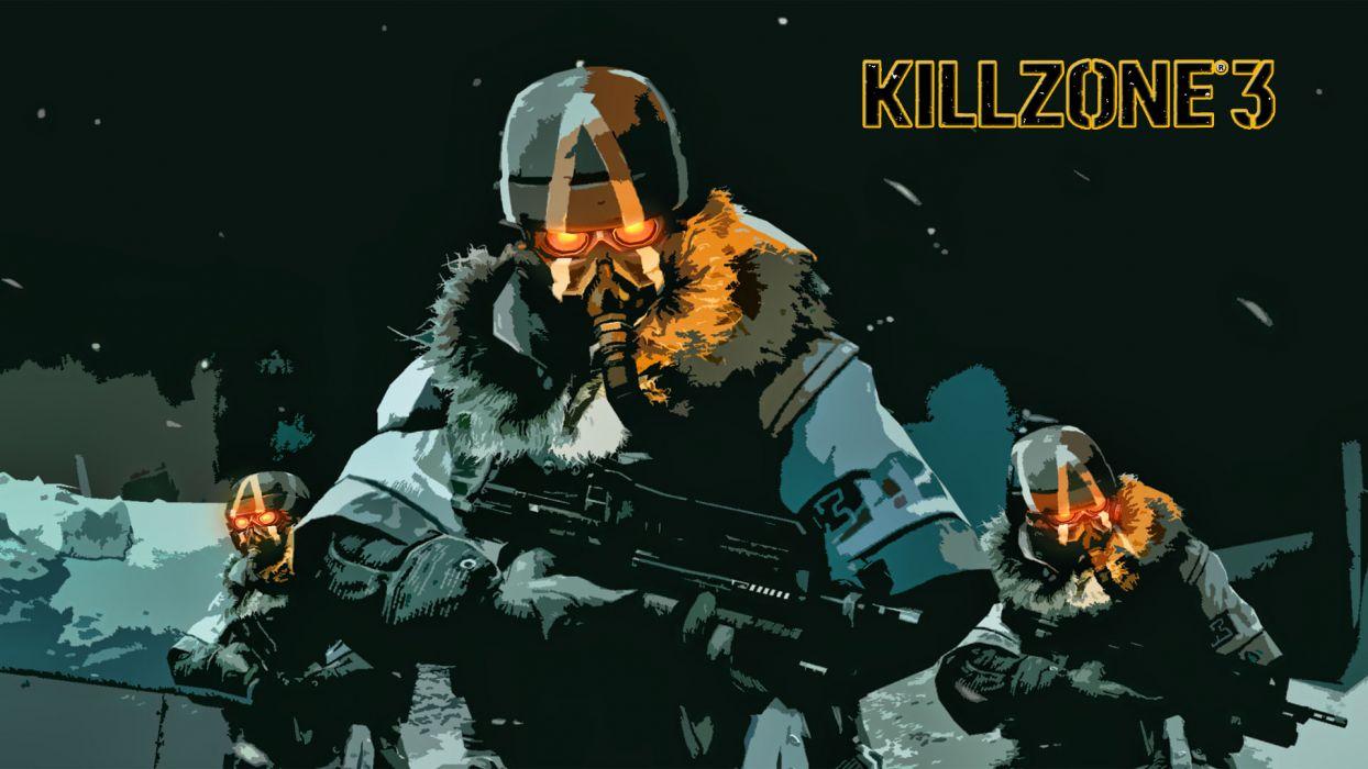 KILLZONE warrior soldier sci-fi weapon gun gas mask  h4 wallpaper
