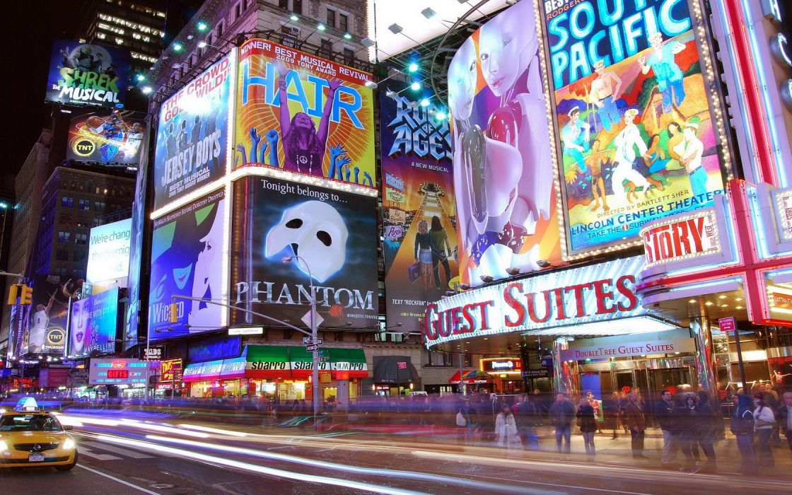 Cityscape Times Square New York City wallpaper