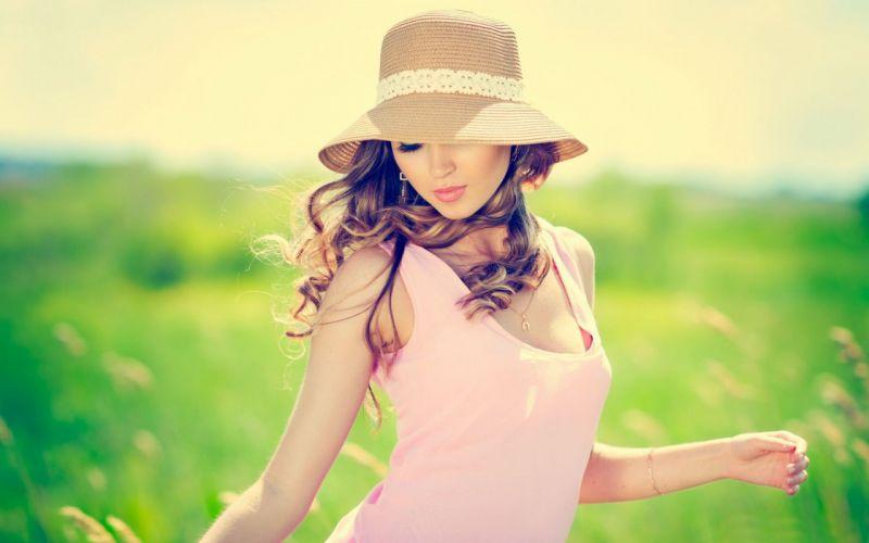 Woman Girl Beauty Summer Long Hair wallpaper