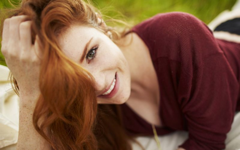Woman Girl Beauty Freckles Redhead wallpaper