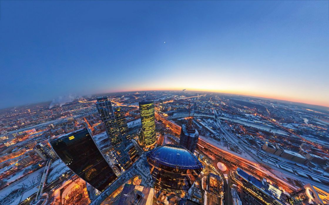 Cityscape Moscow City wallpaper