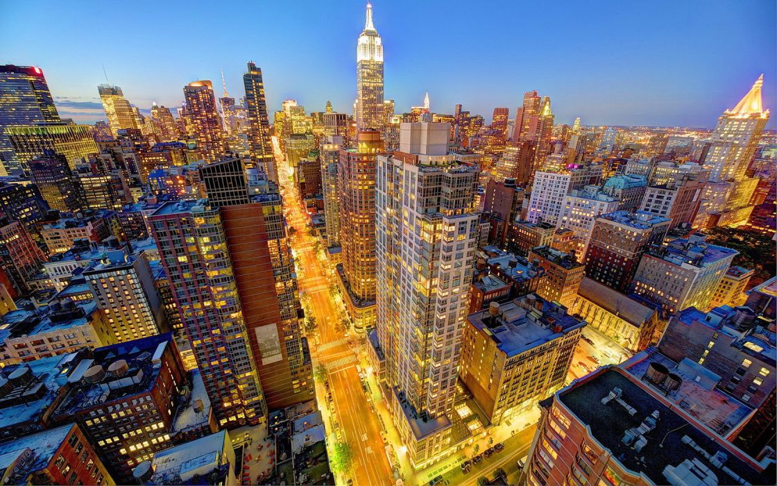 Cityscape Manhattan NYC New York City Skyline wallpaper