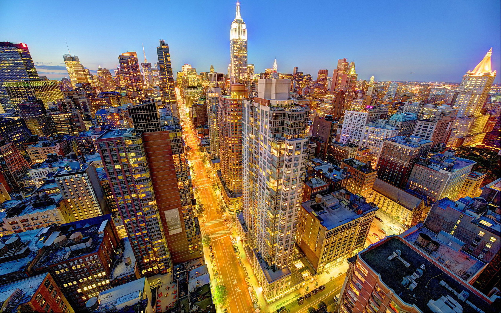 Cityscape Manhattan NYC New York City Skyline Wallpaper