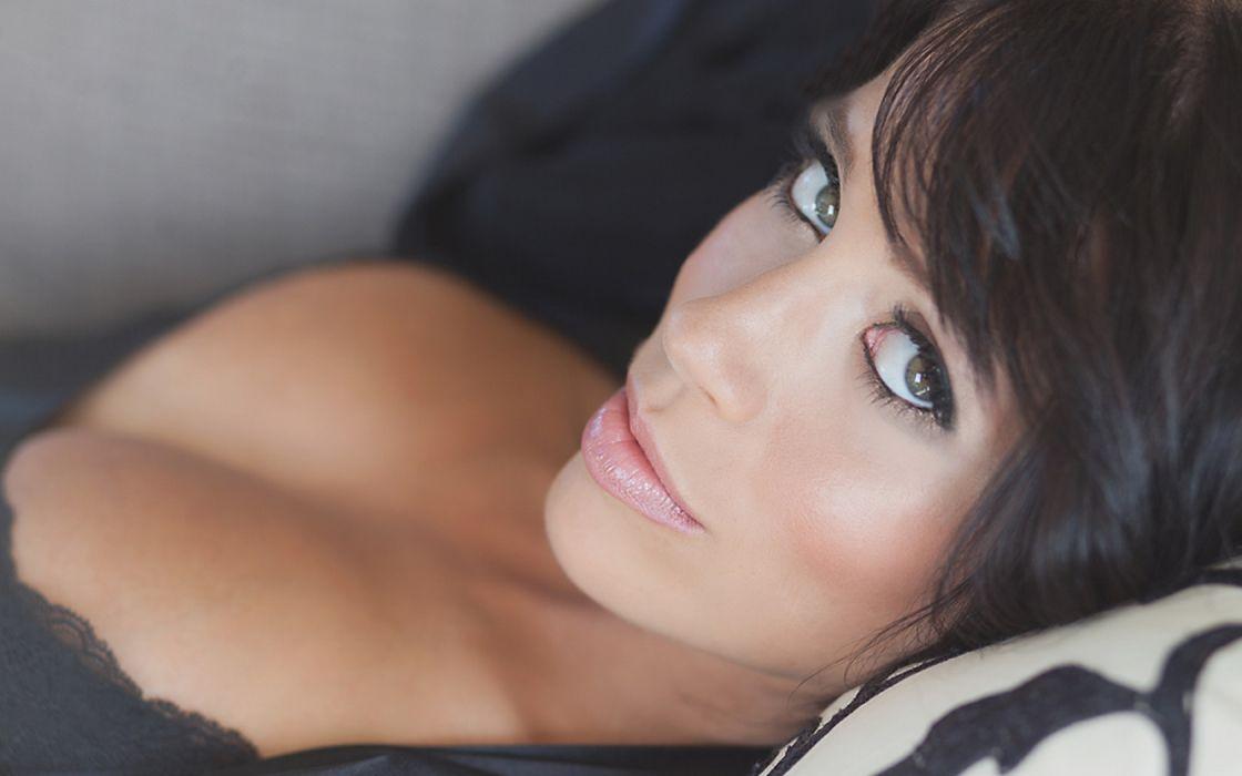 Woman Girl Beauty Donna Lynn Brunette wallpaper