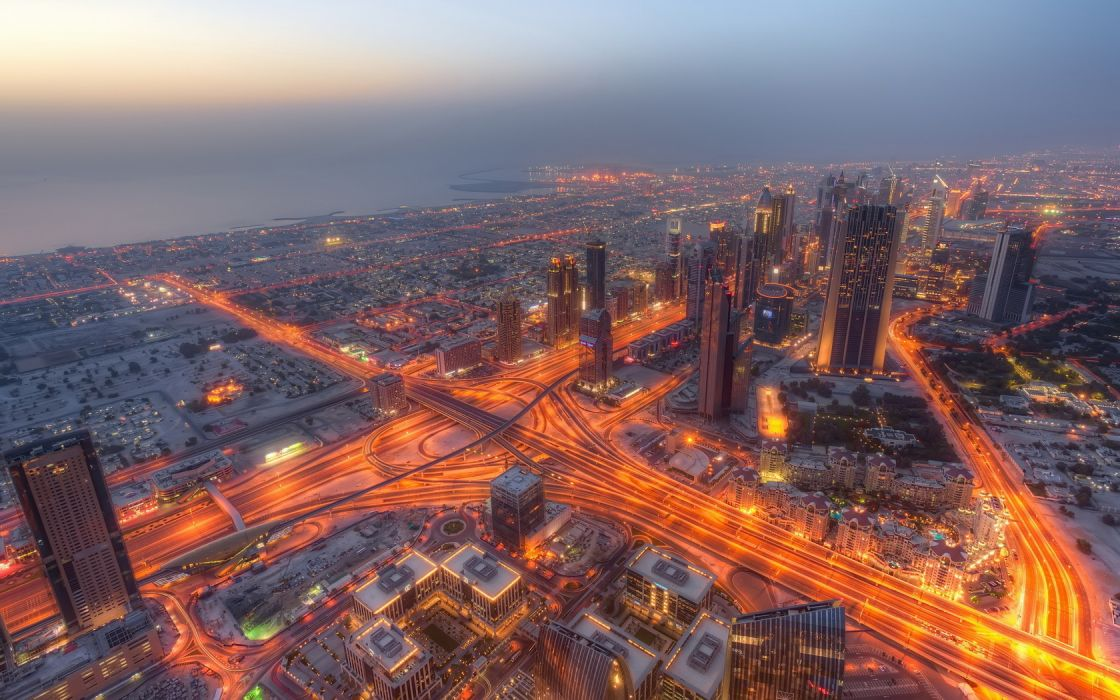 Cityscape Dubai Skylind Dusk wallpaper