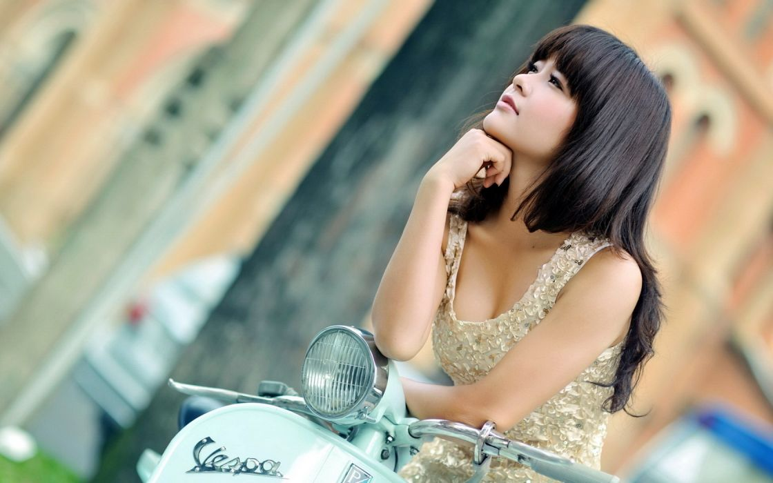 Woman Girl Beauty Asian Brunette wallpaper