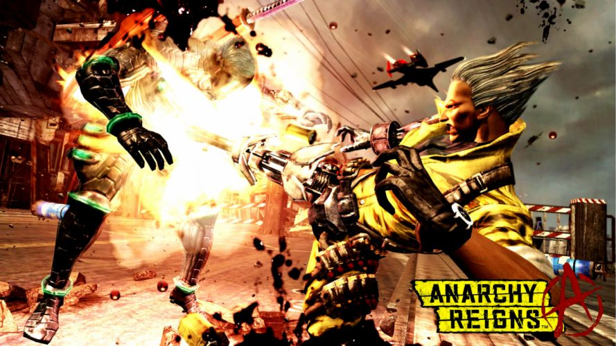ANARCHY REIGNS warrior sci-fi anime battle h wallpaper