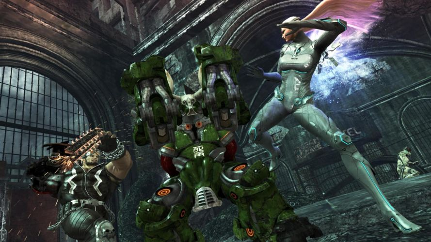 ANARCHY REIGNS warrior sci-fi battle mecha battle ge wallpaper