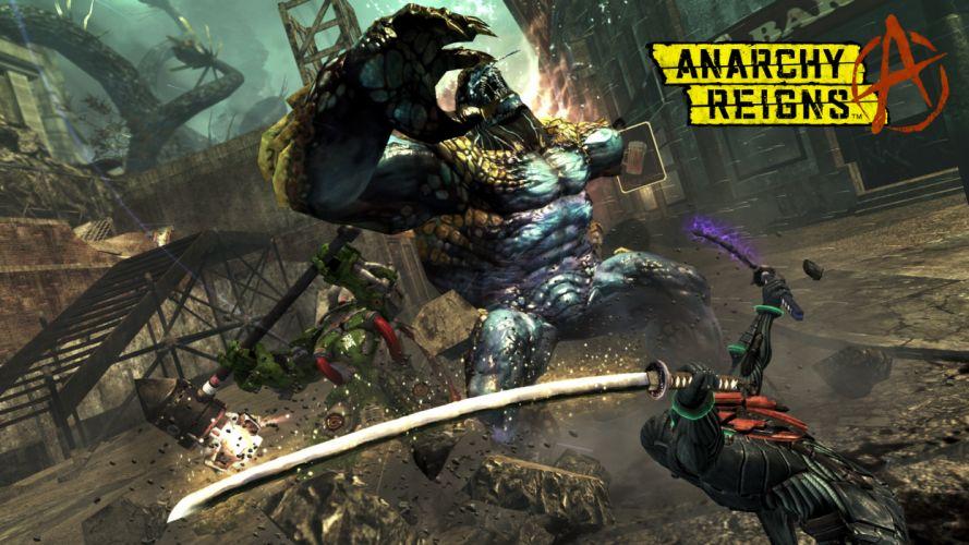 ANARCHY REIGNS warrior sci-fi anime monster battle h wallpaper