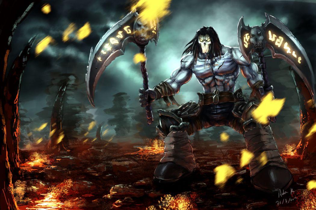 DARKSIDERS fantasy warrior    uu wallpaper