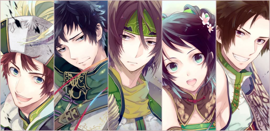 dynasty warriors black hair blue eyes brown eyes brown hair dynasty warriors guan xing guan yinping headband ma dai too mizuguchi xu shu zhang bao wallpaper