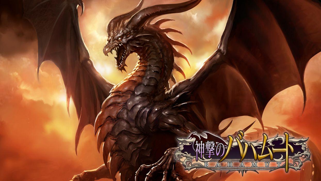 shingeki no bahamut dragon fantasy wallpaper