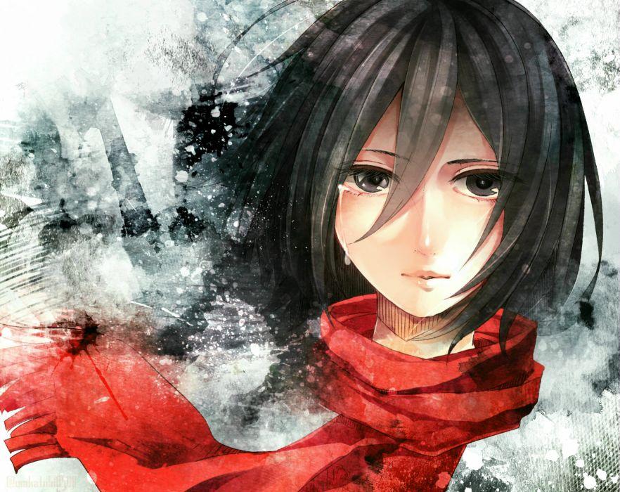 Shingeki no Kyojin Mikasa Ackerman mood wallpaper