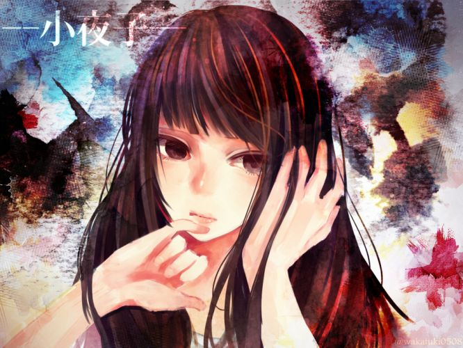 vocaloid brown eyes brown hair close wakatsuki you wallpaper