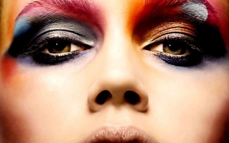 Woman Girl Beauty Eyes wallpaper