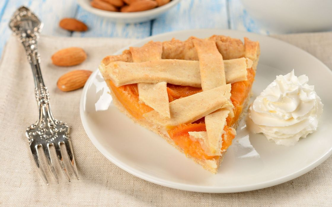 Food Cake Apricots wallpaper