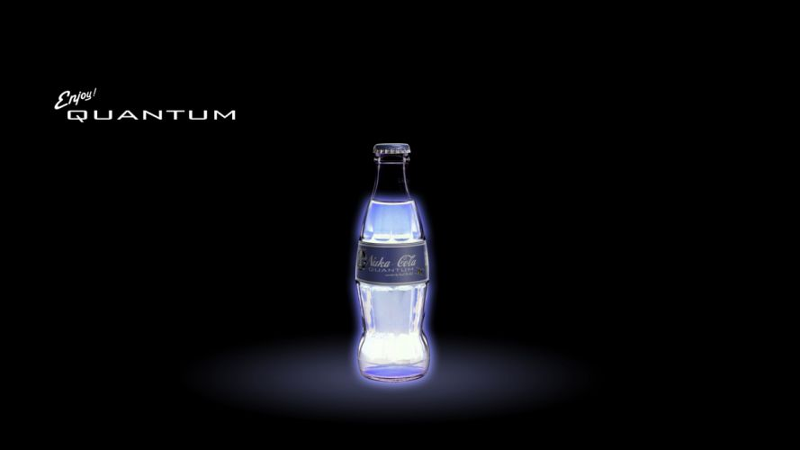 FALLOUT drink nuclear radiation color glow neon f wallpaper