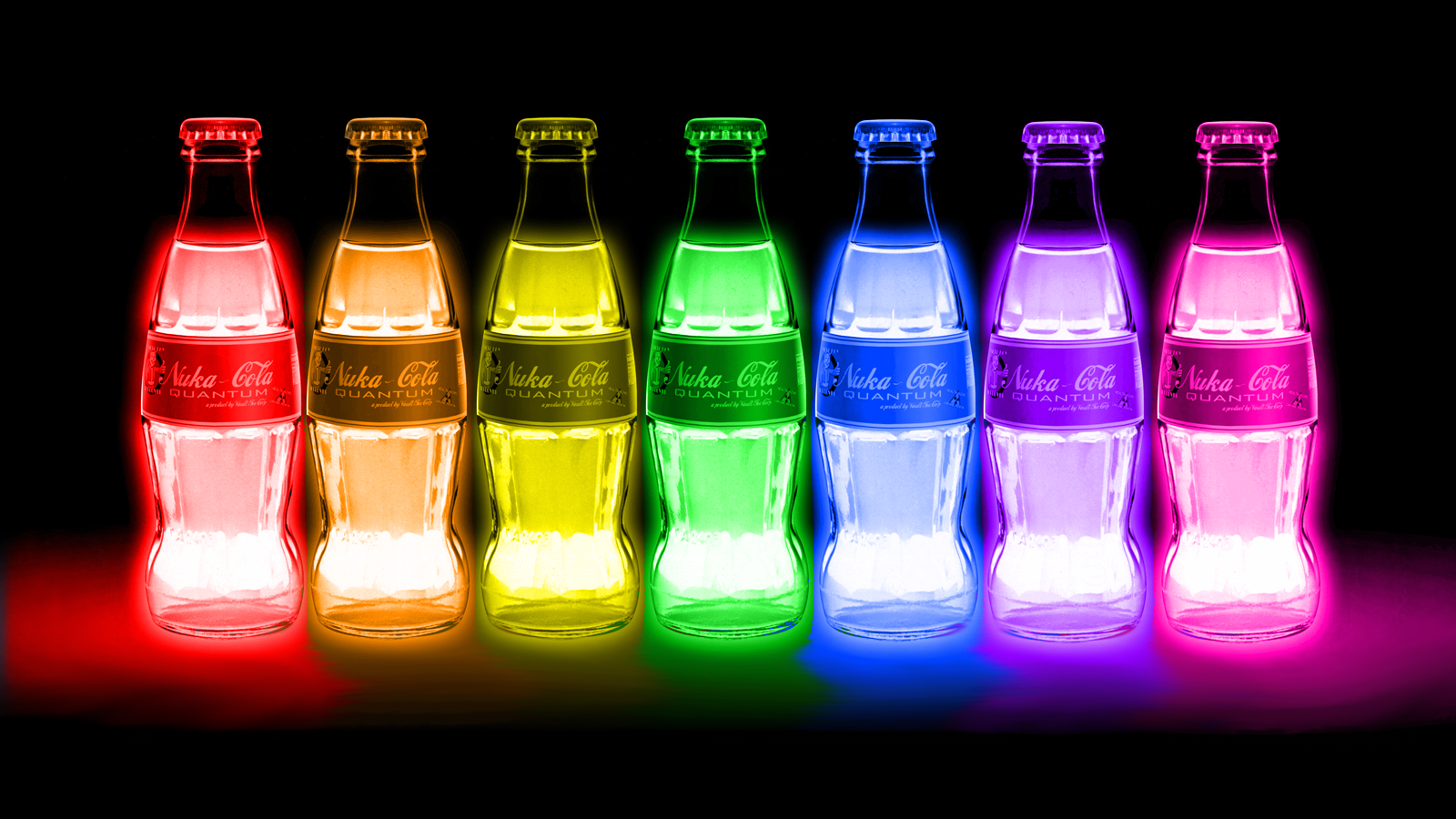FALLOUT Drink Nuclear Radiation Color Glow Neon Wallpaper 1600x900 153077 WallpaperUP