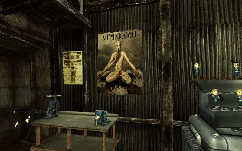FALLOUT sci-fi meshuggah metal death dark wallpaper
