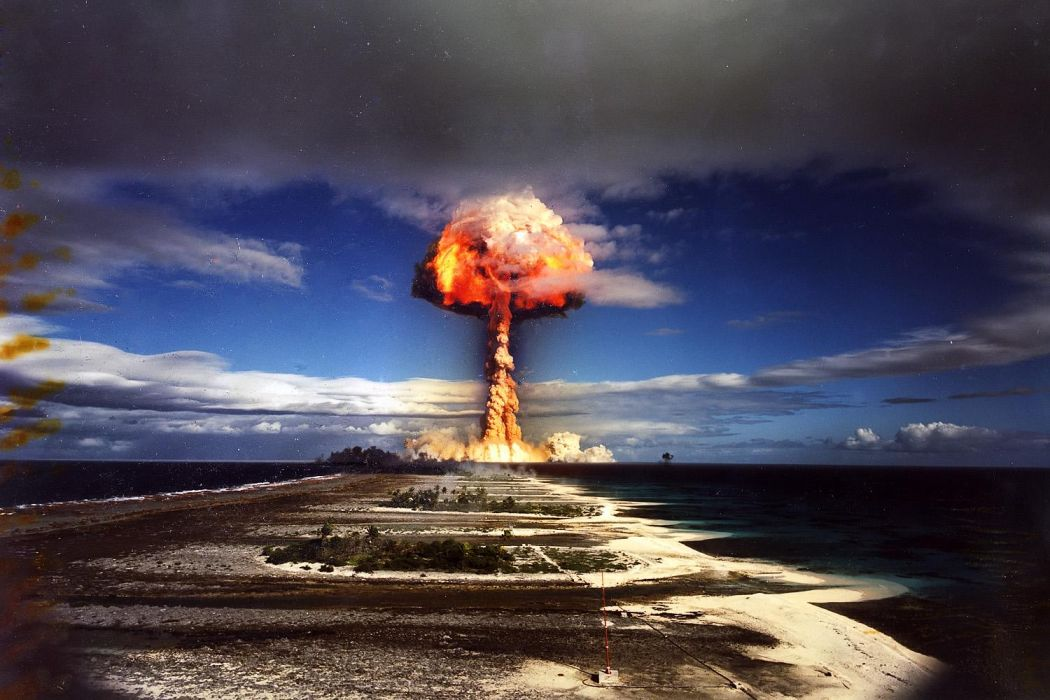 FALLOUT sci-fi apocalyptic nuclear bomb explosion radiation      d wallpaper