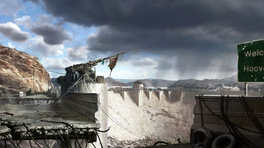 FALLOUT sci-fi apocalyptic weapon gun t wallpaper