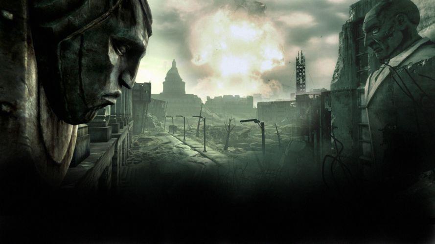 FALLOUT sci-fi city apocalyptic f wallpaper