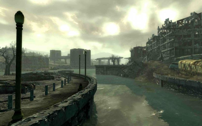FALLOUT sci-fi city apocalyptic t wallpaper