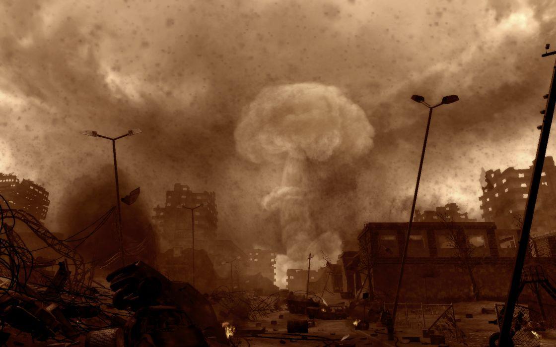 FALLOUT sci-fi city apocalyptic city    r wallpaper