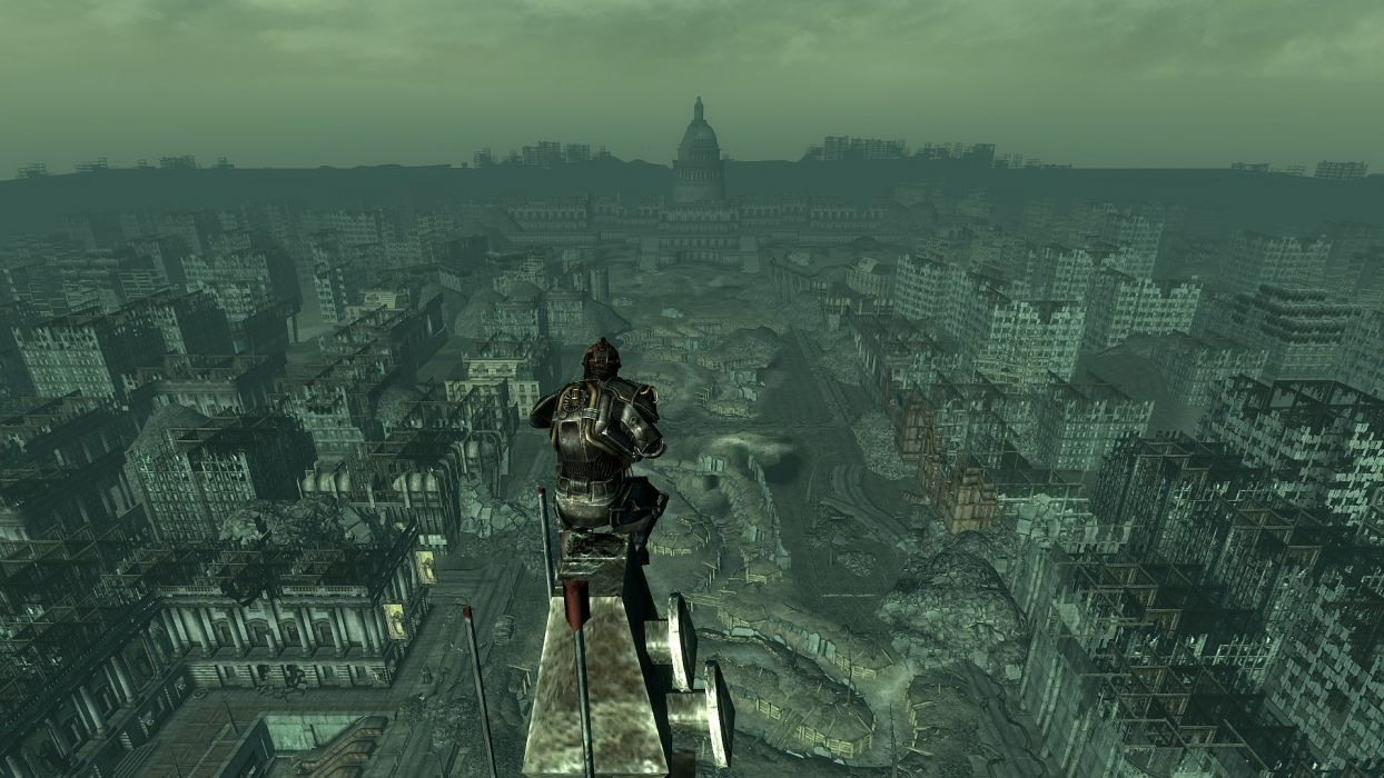 FALLOUT sci-fi city apocalyptic warrior city         r wallpaper
