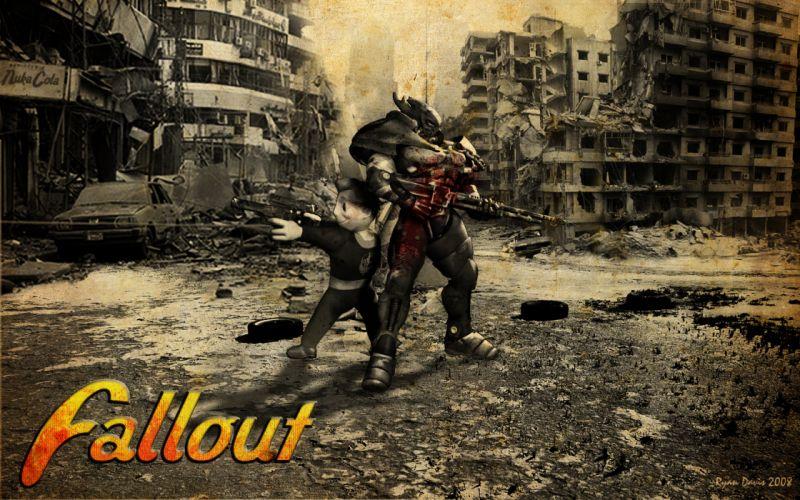 FALLOUT sci-fi warrior d wallpaper