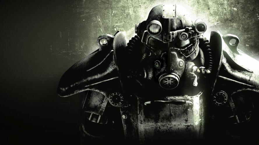 FALLOUT sci-fi warrior apocalyptic mask armor g wallpaper