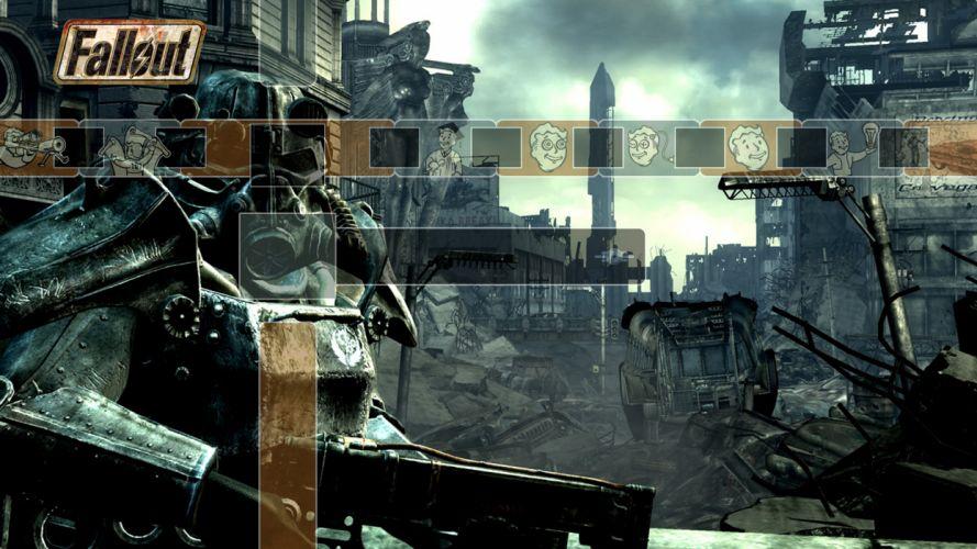 FALLOUT sci-fi warrior apocalyptic mask armor f wallpaper