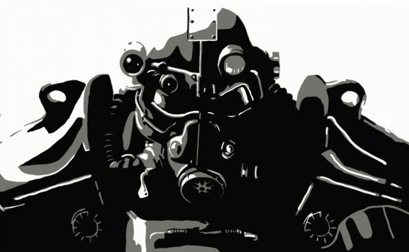 FALLOUT sci-fi warrior armor mask f wallpaper