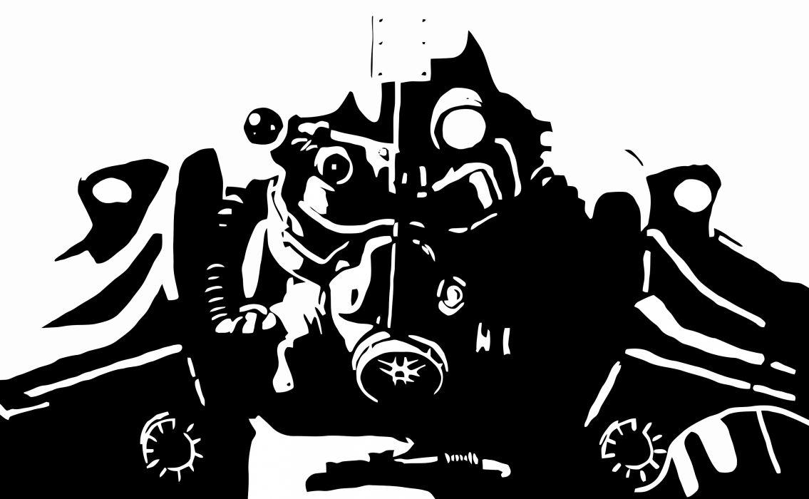 FALLOUT sci-fi warrior armor mask f wallpaper | 3000x1850 ...