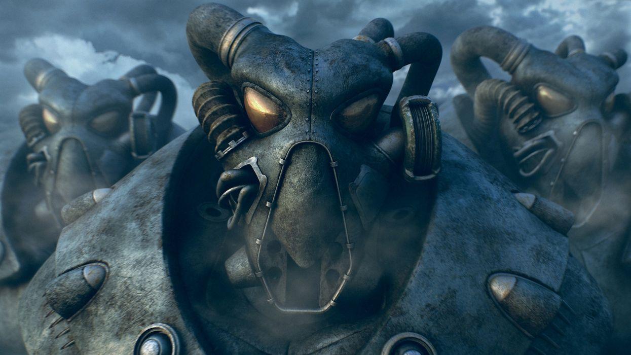FALLOUT sci-fi warrior armor mask h wallpaper
