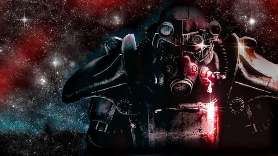 FALLOUT sci-fi warrior mask armor r wallpaper