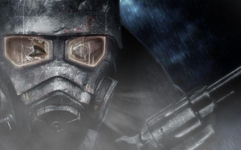 FALLOUT sci-fi warrior mask weapon gun g wallpaper